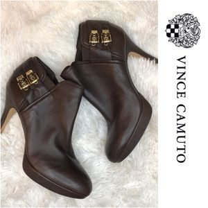 Vince Camuto Brown Ankle Booties ⚜️